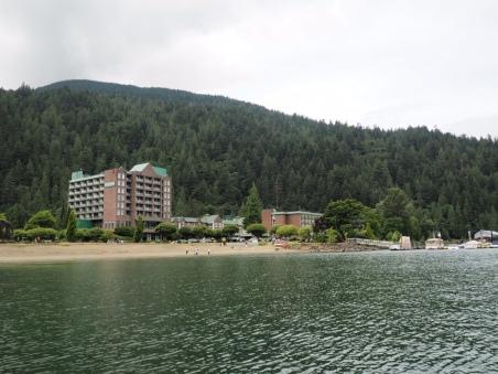 The resort and lake